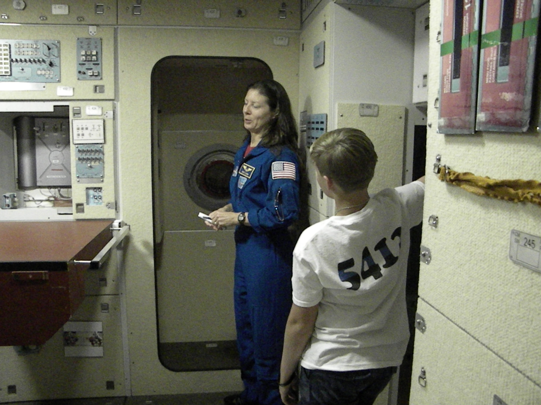 How astronauts use the bathroom - Astronaut Tracy Caldwell Dyson Explains To Tyler How Astronauts Sleep Eat And Use The